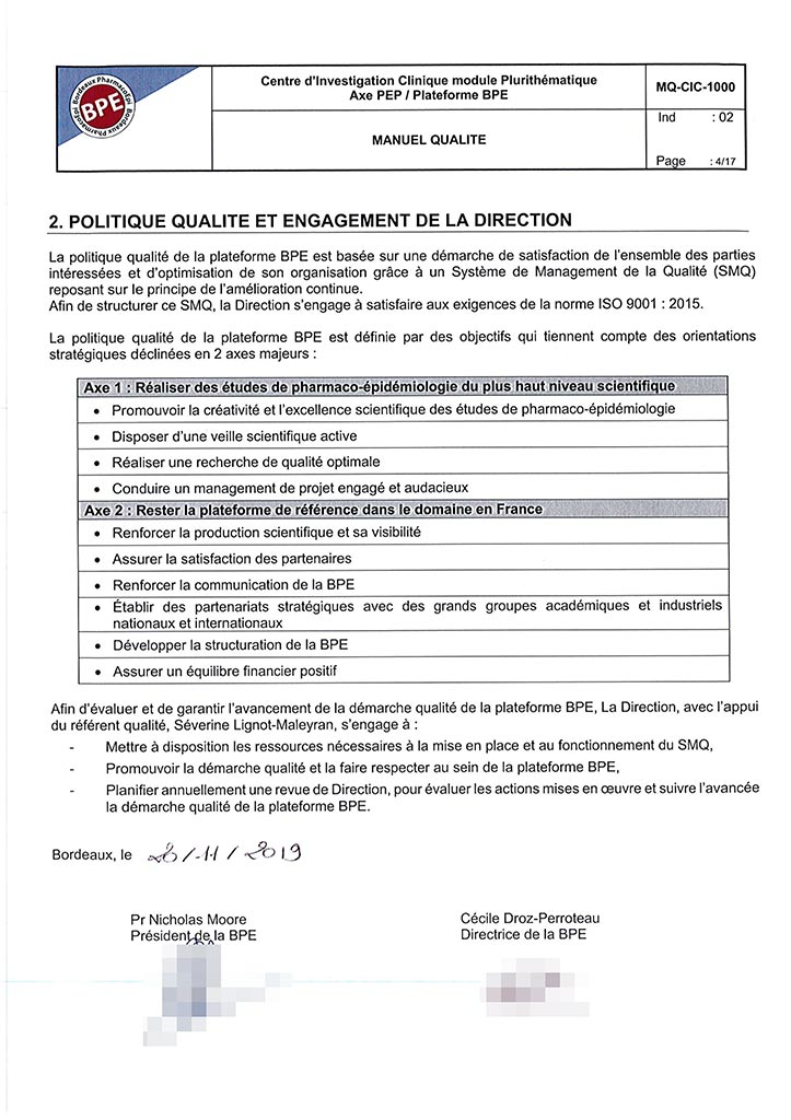 Scan du document Engagement qualité