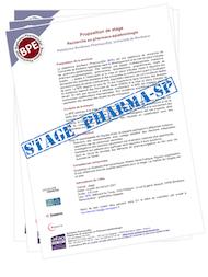 Offre de stage Pharma – Master SP
